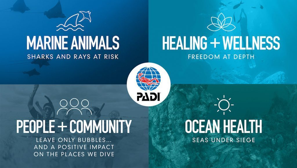 PADI's Corporate Social Responsibility Program, the Four Pillars of Change, and how scuba diving can be a healer